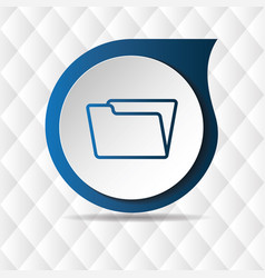 blue folder icon geometric background image vector image