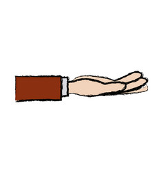 business hand people receiving gesture vector image