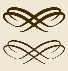 Calligraphic bow design element vector