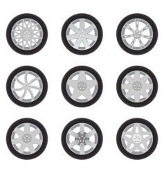 car discs vector image