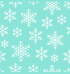 christmas new year seamless pattern snowflakes vector image