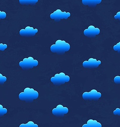 Clouds in the night sky Seamless pattern vector image
