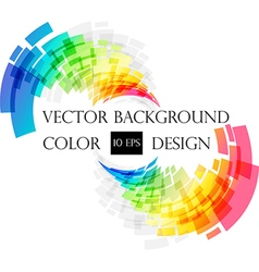 Colored abstract frame on white vector image