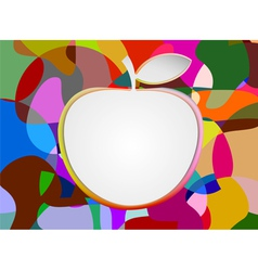 Colorful with blank apple shape vector image