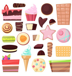 confectionery sweets chocolate candies and vector image
