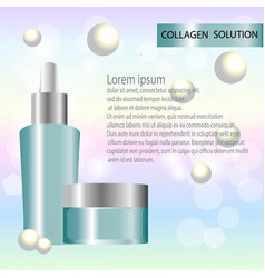 Cosmetic background with bottle vector