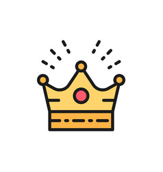 Crown head accessory for celebration flat color vector