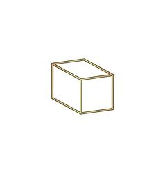 cube computer symbol vector image