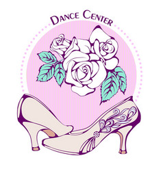 dance line color ballroom standard shoes vector image vector image