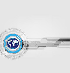 digital global technology concept abstract vector image