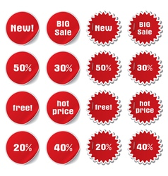 discount and sale stickers vector image