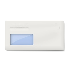 DL envelope with window for address isolated vector image