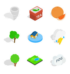 Fix vital icons set isometric style vector