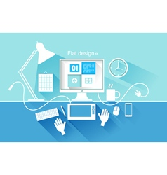 flat design modern devices vector image