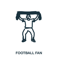 football fan icon mobile apps printing and more vector image