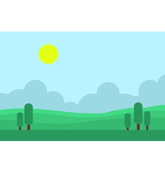 Game backgrounds landscape at morning vector