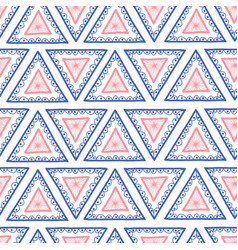 geometric seamless hand drawn triangle background vector image