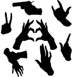 hands image vector image