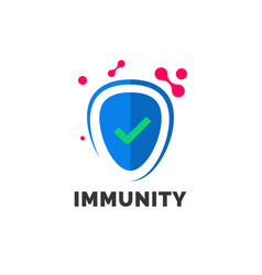 Immunity logo template for immune medicine vector
