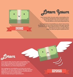 Income and expenses money bill infographic vector