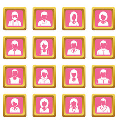 infographic design parts icons pink vector image