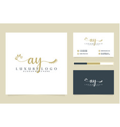Initial ay feminine logo collections and business vector