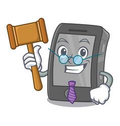 Judge ipad in a cartoon shape vector