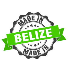Made in belize round seal vector