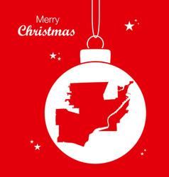merry christmas theme with map of toledo ohio vector image