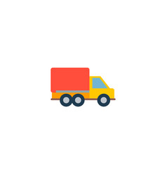moving truck icon flat element vector image