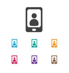 Of bureau symbol on phone icon vector