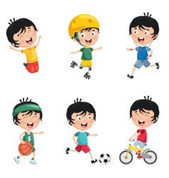 Of kids daily routine activiti vector