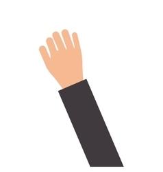 Open hand icon vector