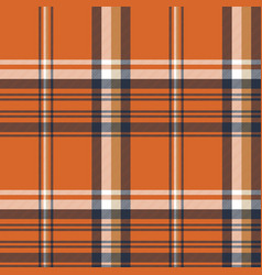 Orange check plaid seamless pattern vector