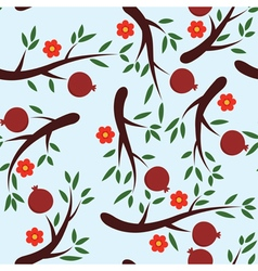pomegranate background vector image