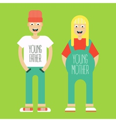 Pregnant couple vector
