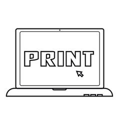 Print icon outline style vector image vector image