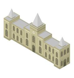 Railway building icon isometric style vector