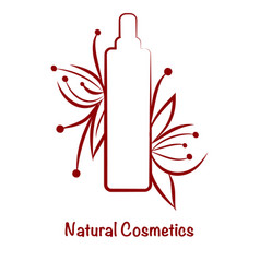 red bottle template for cosmetic logo vector image