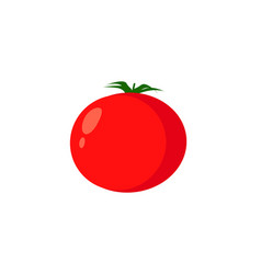 red tomato vegetable logo icon in flat style red vector image