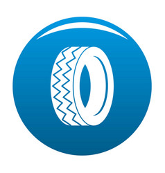 Round tire icon blue vector