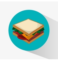 Sandwich of fast food concept vector