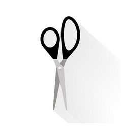 scissors flat on white background vector image