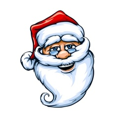 Smiling Santa Claus face vector