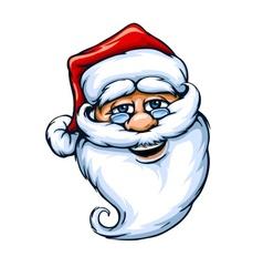 smiling Santa Claus face vector image