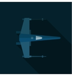 space shuttle military aircraft flat art vector image vector image