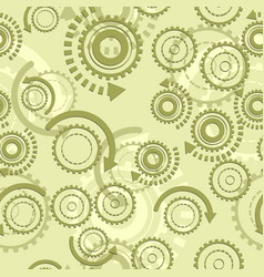 technical gears seamless pattern vector image