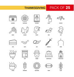 thanksgiving black line icon - 25 business vector image