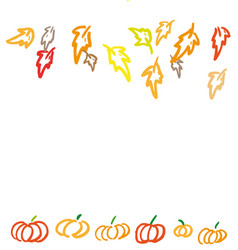 thanksgiving ink background vector image
