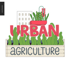 Urban farming and gardening logo vector
